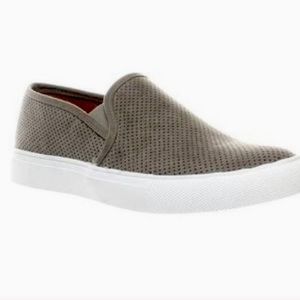 Steve Madden Zarayy Charcoal Perforated Sneakers